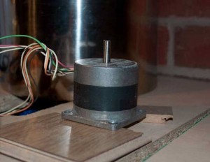 The stepper motor used for rotating the sparge arm